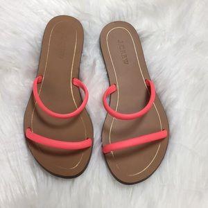 J. Crew Hot Pink Slide Sandals Size 7